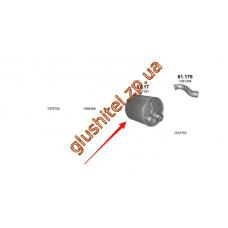 Глушитель DAF XF95, СF75, CF85 96- (61.17) Polmostrow алюминизированный