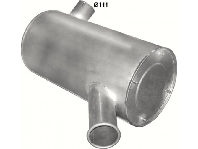 Глушитель Ивеко Старлис, Евротех, Евростар (Iveco Stralis, EuroTech, Eurostar) 93- (64.01) Polmostrow алюминизированный
