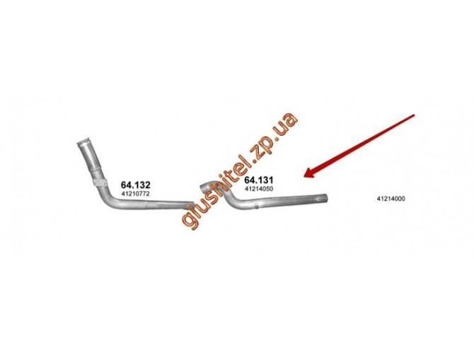 Труба промежуточная IVECO EUROTRAKKER (Ивеко Евротреккер) Cursor Euro III 28507 (64.131) Polmostrow алюминизированный
