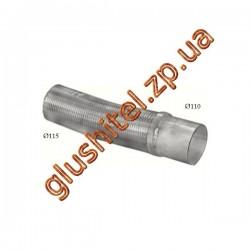 Гофра соеденительная MAN TGA din 47194 (68.34) Polmostrow алюминизированный