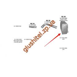 Глушитель MAN TGA din 49379 00- (68.38) Polmostrow алюминизированный