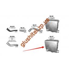 Глушитель MAN TGA/TGS/TGX 49398 04- (68.67) Polmostrow алюминизированный