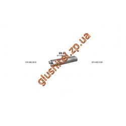 Глушитель Mersedes 6-9/LK/10-16T din 50356 00- (69.04) Polmostrow алюминизированный