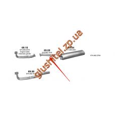 Труба промежуточная Mersedes 814L din 51141 83- (69.09) Polmostrow алюминизированный