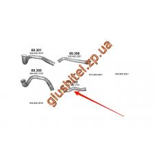 Труба промежуточная Mersedes Atego/Axor 97- (69.302) Polmostrow алюминизированный