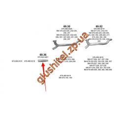 Гофра (соединитель) Mersedes 1120F/817L din 52176 96- (69.36) Polmostrow алюминизированный