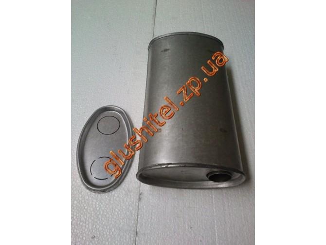 Глушитель универсальный плоский D.702/50 (Длинна 300мм, ширина 200мм, высота 100мм диаметр входа 50мм)