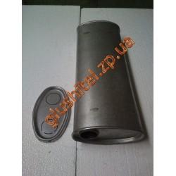 Глушитель универсальный плоский D.704/45 (Длинна 400мм, ширина 200мм, высота 100мм диаметр входа 45мм)