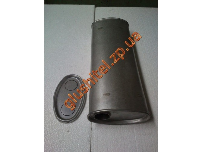 Глушитель универсальный плоский D.704/50 (Длинна 400мм, ширина 200мм, высота 100мм диаметр входа 50мм)