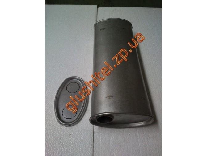 Глушитель универсальный плоский D.706/50 (Длинна 500мм, ширина 200мм, высота 100мм диаметр входа 50мм)