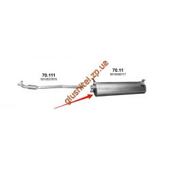 Глушитель Renault Mascott din 66341 3.0 04-10 (70.11) Polmostrow алюминизированный