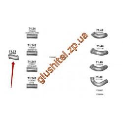 Труба промежуточная Scania P/R/T 04- (71.23) Polmostrow алюминизированный
