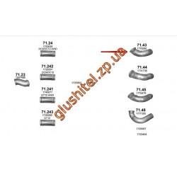 Труба промежуточная Scania P/R/T 04- (71.43) Polmostrow алюминизированный