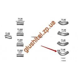 Труба промежуточная Scania P/R/T 04- (71.48) Polmostrow алюминизированный