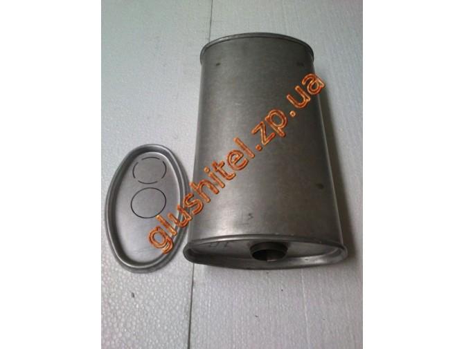 Глушитель универсальный плоский D.713/50 (Длинна 350мм, ширина 200мм, высота 100мм диаметр входа 50мм)