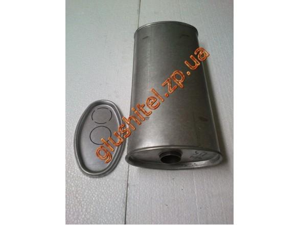 Глушитель универсальный плоский D.714/45 (Длинна 400мм, ширина 200мм, высота 100мм диаметр входа 45мм)