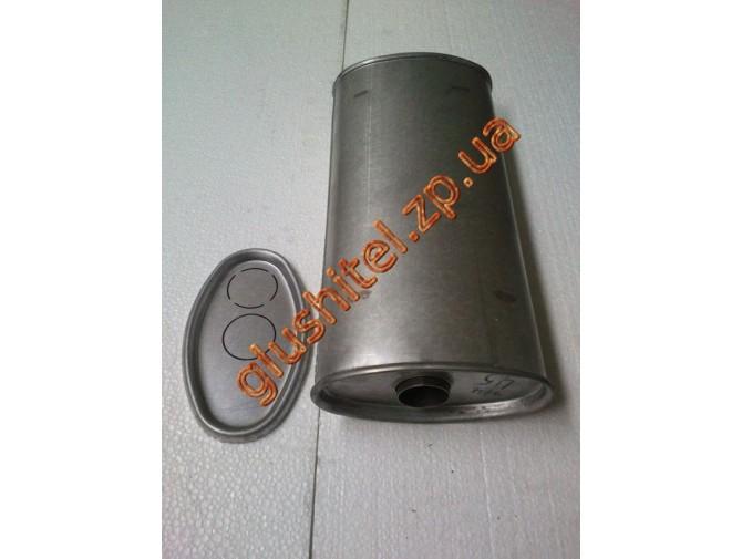 Глушитель универсальный плоский D.714/50 (Длинна 400мм, ширина 200мм, высота 100мм диаметр входа 50мм)