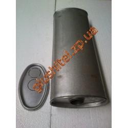 Глушитель универсальный плоский D.715/50 (Длинна 450мм, ширина 200мм, высота 100мм диаметр входа 50мм)