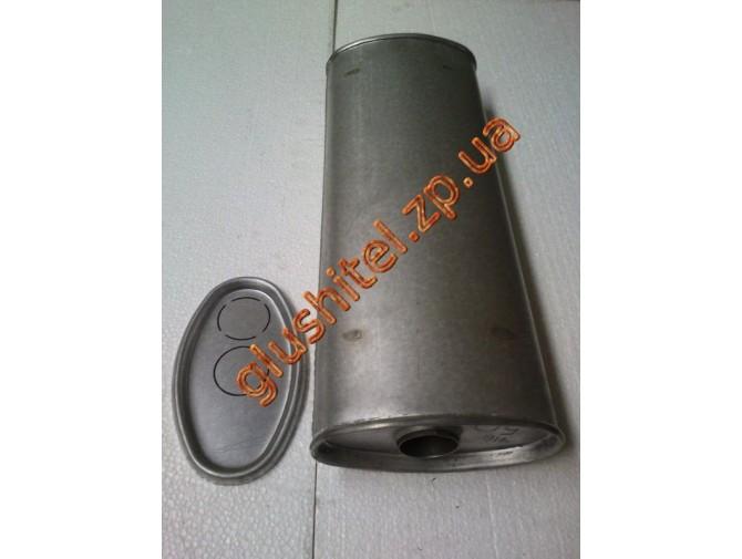 Глушитель универсальный плоский D.716/50 (Длинна 500мм, ширина 200мм, высота 100мм диаметр входа 50мм)