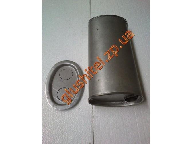 Глушитель универсальный плоский D.723/42 (Длинна 350мм, ширина 170мм, высота 100мм диаметр входа 42мм)
