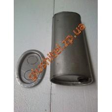 Глушитель универсальный плоский D.724/45 (Длинна 400мм, ширина 170мм, высота 100мм диаметр входа 45мм)