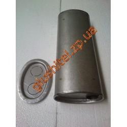 Глушитель универсальный плоский D.725/45 (Длинна 450мм, ширина 170мм, высота 100мм диаметр входа 45мм)