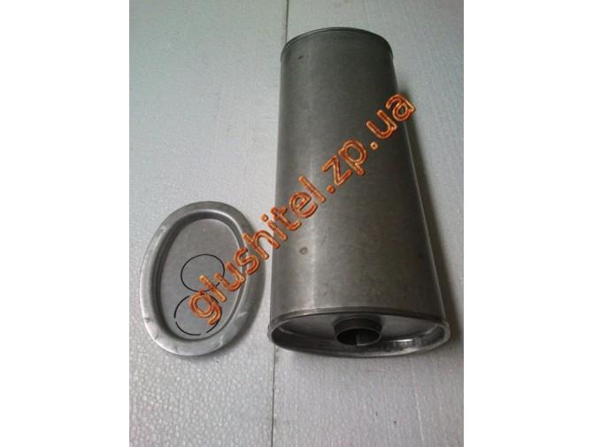 Глушитель универсальный плоский D.735/45 (Длинна 450мм, ширина 170мм, высота 100мм диаметр входа 45мм)