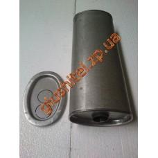 Глушитель универсальный плоский D.736/50 (Длинна 500мм, ширина 170мм, высота 100мм диаметр входа 50мм)