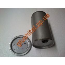 Глушитель универсальный круглый D.743/45 (Длинна 350мм, диаметр корпуса 150мм, диаметр входа 45мм)