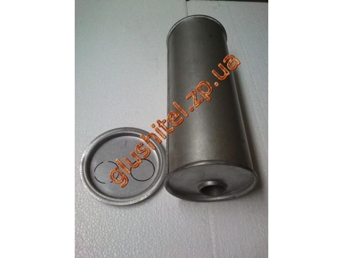 Глушитель универсальный круглый D.742/50 (Длинна 300мм, диаметр корпуса 150мм, диаметр входа 50мм)