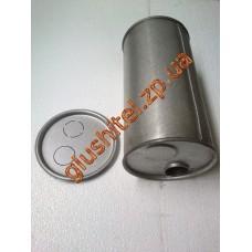 Глушитель универсальный круглый D.754/50 (Длинна 400мм, диаметр корпуса 180мм, диаметр входа 50мм)