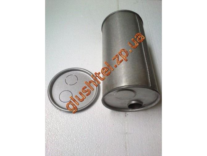 Глушитель универсальный круглый D.752/50 (Длинна 300мм, диаметр корпуса 180мм, диаметр входа 50мм)