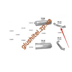 Труба выхлопная Volvo FL6 din 81624 90-00 (75.13) Polmostrow алюминизированный
