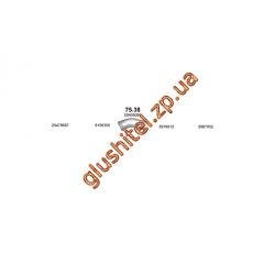 Труба промежуточная Volvo FM/FH din 82143 98- (75.38) Polmostrow алюминизированный