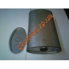 Глушитель универсальный плоский D.775/50 (Длинна 450мм, ширина 260мм, высота 130мм диаметр входа 50мм)