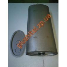 Глушитель универсальный плоский D.778/60 (Длинна 600мм, ширина 260мм, высота 130мм диаметр входа 60мм)
