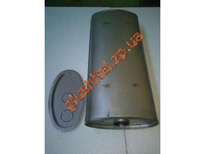 Глушитель универсальный плоский D.768/60 (Длинна 600мм, ширина 260мм, высота 130мм диаметр входа 60мм)