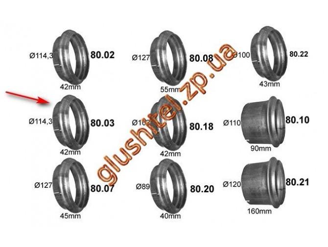 Рем. вставка - завальцовка DIN78215 (80.03) Polmostrow алюминизированный