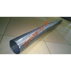 Труба эластичная (гофра) ф 80 - оцинкованная сталь POLMOstrow