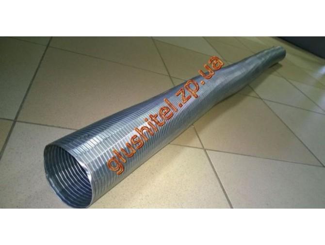 Труба эластичная (гофра) ф 48 - оцинкованная сталь POLMOstrow