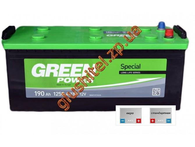 Автомобильный аккумулятор GreenPower 6СТ-190