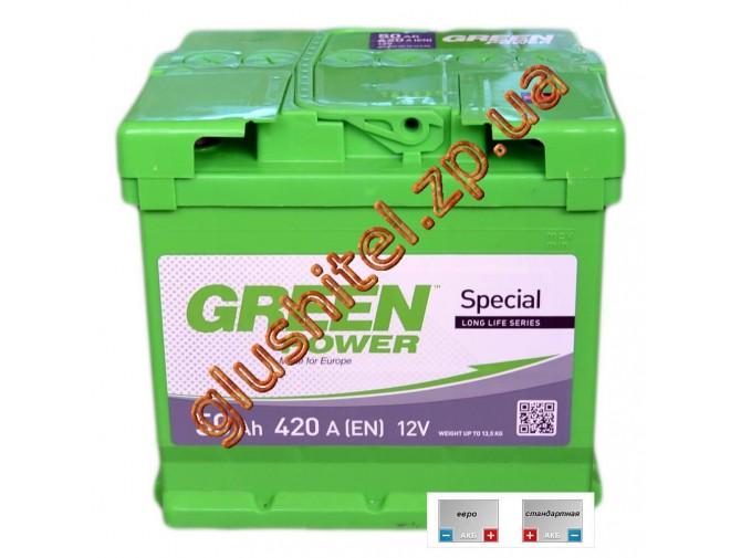 Автомобильный аккумулятор GreenPower 6СТ-50