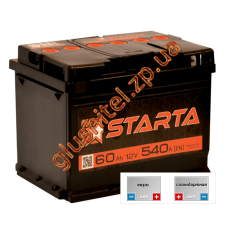 Автомобильный аккумулятор Starta 6СТ-60