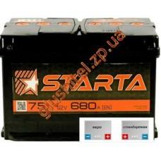 Автомобильный аккумулятор Starta 6СТ-75