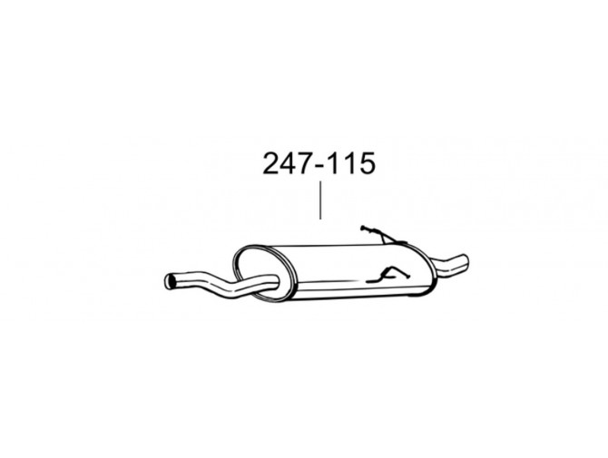 Глушитель БМВ 316i Е46 (BMW 316i E46) 1.9 sedan, coupe 98-02 (247-115) Bosal 03.128 алюминизированный