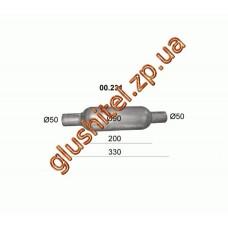 Бочка глушителя универсальная ( d= 90 L=330 ; d=50 )