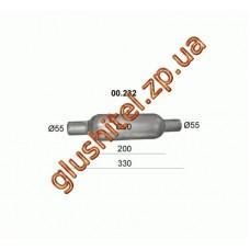 Бочка глушителя универсальная ( d= 90 L=330 ; d= 55 )