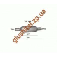 Бочка глушителя универсальная ( d= 90 L=460 ; d= 60 )