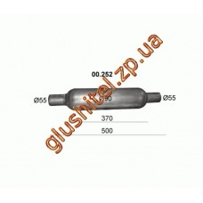 Бочка глушителя универсальная ( d= 90 L=500 ; d= 55 )