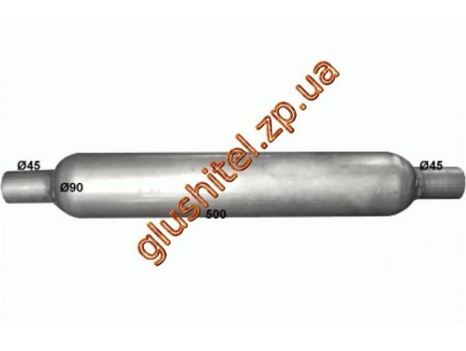 Бочка глушителя универсальная ( d= 90 L= 600 ; d= 45 )